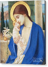 Madonna And Child Acrylic Print by Marianne Stokes
