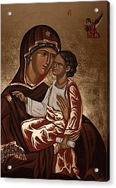 Acrylic Print featuring the painting Madonna And Child by Olimpia - Hinamatsuri Barbu