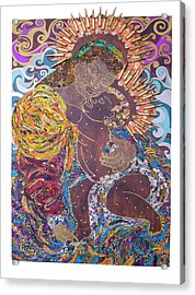 Madonna And Child The Sacred And Profane Acrylic Print