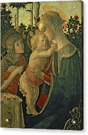 Madonna And Child With St. John The Baptist Acrylic Print by Sandro Botticelli
