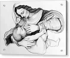 Madonna And Christ Acrylic Print