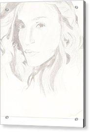 Madonna Acrylic Print by Carlos Hyman