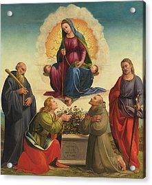 Madonna Delle Cintola Acrylic Print by Francesco Granacci