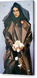 Madonna Acrylic Print by Ixchel Amor