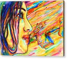 Madonna Acrylic Print by Joseph Lawrence Vasile