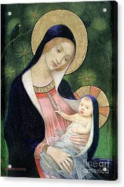 Madonna Of The Fir Tree Acrylic Print by Marianne Stokes
