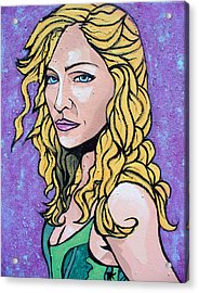 Acrylic Print featuring the painting Madonna by Sarah Crumpler