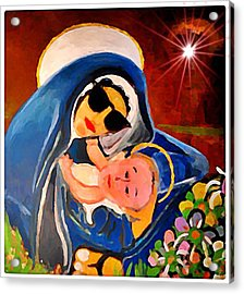Premadonna With Child Acrylic Print by Gregory McLaughlin