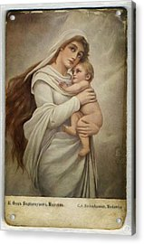 Madonna With Child Acrylic Print