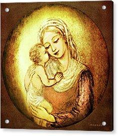 Mary And Jesus  Acrylic Print by Ananda Vdovic