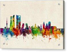 Madrid Spain Skyline Acrylic Print