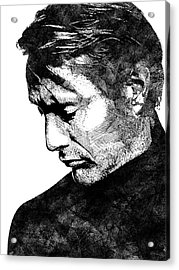 Mads Mikkelsen Acrylic Print by Mihaela Pater