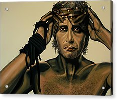 Mads Mikkelsen Painting Acrylic Print by Paul Meijering