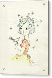Mae Acrylic Print by Paola Zakimi