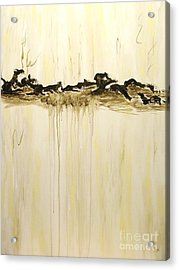 Maelstrom Original Contemporary Modern Abstract Painting Acrylic Print by Itaya Lightbourne