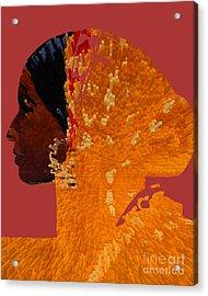 Maferefun Ochun Yoruba Acrylic Print by Liz Loz