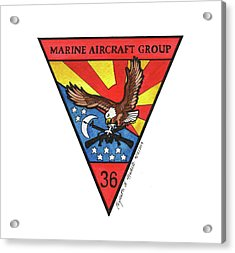 Mag-36 Patch Acrylic Print
