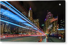 Acrylic Print featuring the photograph Mag Mile Warp Speed by Sean Foster