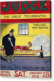 Magazine Cover, 1928 Acrylic Print