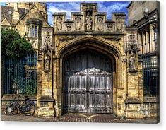 Magdalen College Door - Oxford Acrylic Print