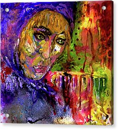 Acrylic Print featuring the mixed media Magdalena by Lisa McKinney