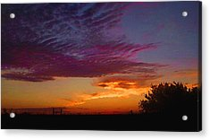 Acrylic Print featuring the digital art Magenta Morning Sky by Shelli Fitzpatrick