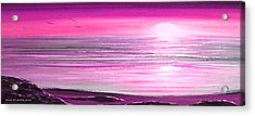 Magenta Panoramic Sunset Acrylic Print