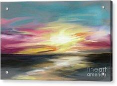 Magenta Sea Acrylic Print
