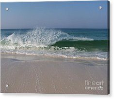 Acrylic Print featuring the photograph Magestic Wave by Jeanne Forsythe