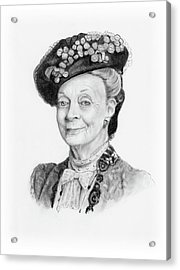 Maggie Smith As The Dowager Countess, Downton Abbey Acrylic Print