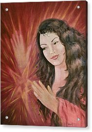 Magic - Morgan Le Fay Acrylic Print by Bernadette Wulf