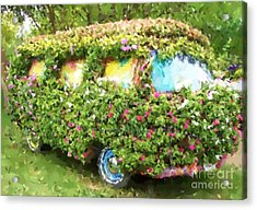 Magic Bus Acrylic Print by Debbi Granruth