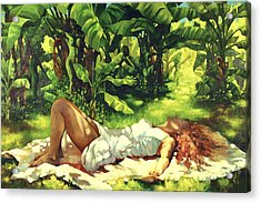 Magic Carpet Ride Acrylic Print by Monica Linville
