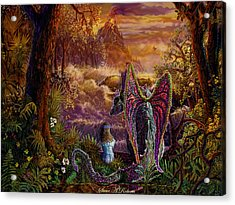 Acrylic Print featuring the painting Magic Evening by Steve Roberts