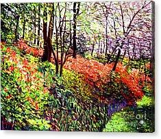 Magic Flower Forest Acrylic Print by David Lloyd Glover