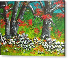 Acrylic Print featuring the painting Magic Hillside by Dan Whittemore