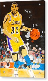 Magic Johnson Acrylic Print by Estelle BRETON-MAYA