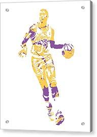 Magic Johnson Los Angeles Lakers Pixel Art 10 Acrylic Print