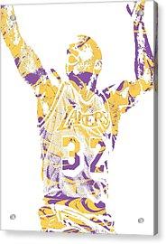 Magic Johnson Los Angeles Lakers Pixel Art 7 Acrylic Print