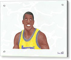 Magic Johnson Acrylic Print