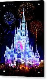 Magic Kingdom Fireworks Acrylic Print