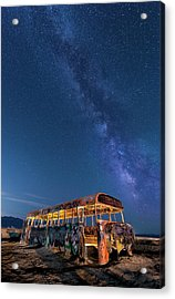 Magic Milky Way Bus Acrylic Print