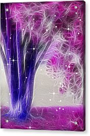 Acrylic Print featuring the digital art Magic Myrtle by Wendy J St Christopher