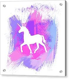 Magic Unicorn 1- Art By Linda Woods Acrylic Print