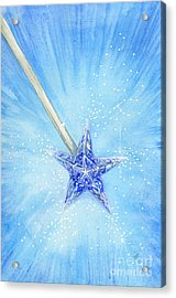 Acrylic Print featuring the painting Magic Wand by Cindy Garber Iverson