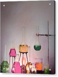 Magical Beakers Acrylic Print by Enzie Shahmiri