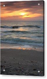 Magical Captiva Beach Sunset Acrylic Print by Larry Federman