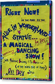 Magical Dancing Show Poster Acrylic Print