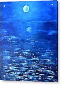 Magical Full Moon Acrylic Print by Thierry Vobmann