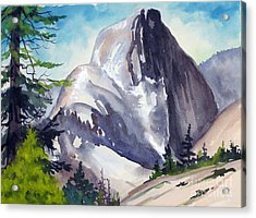 Acrylic Print featuring the painting Magical Half Dome by Pat Crowther